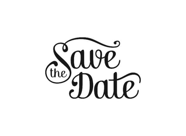 save date black and white clipart