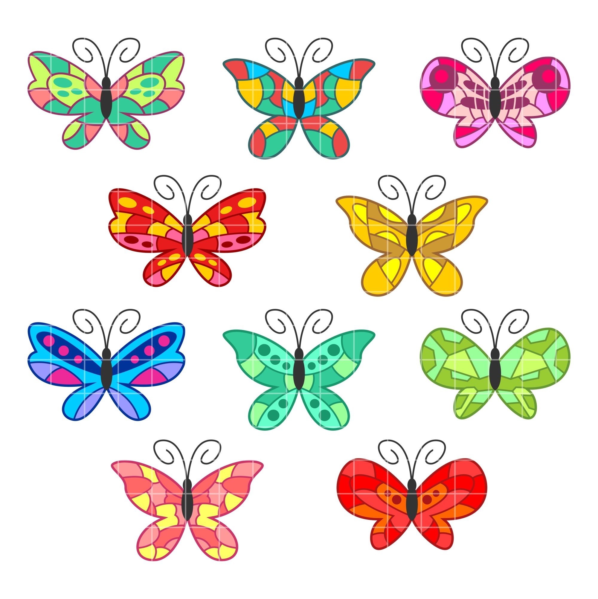 hight resolution of butterflies colorful butterfly designs clipart clipartfest