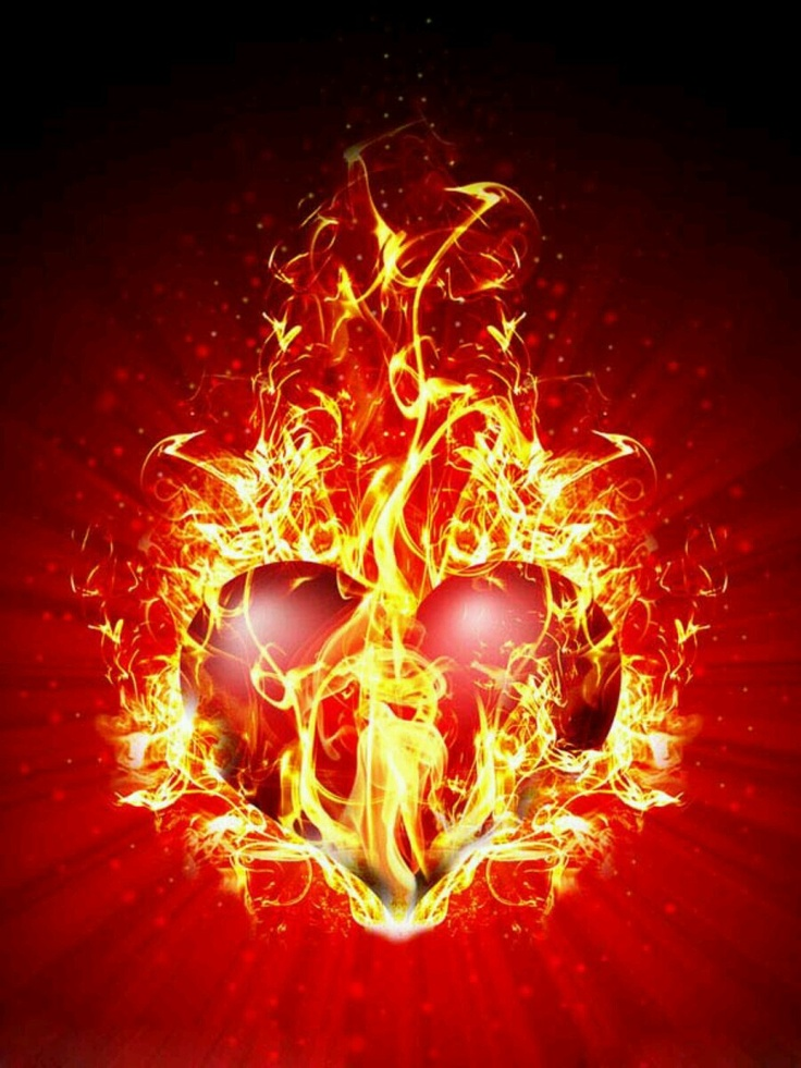 heart with flames 0