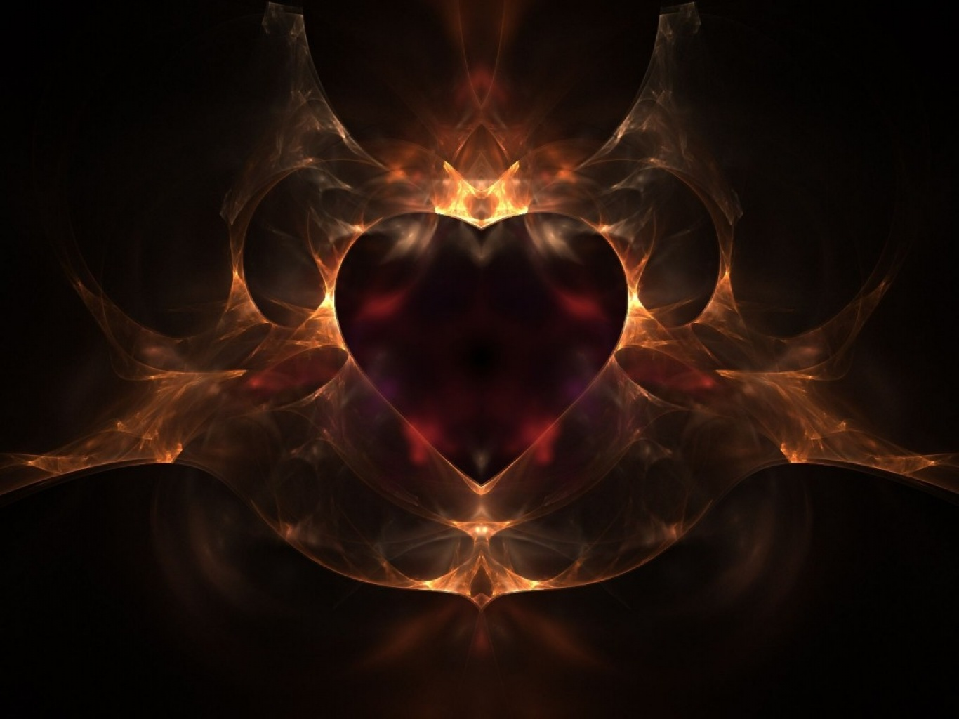 heart with flames heart