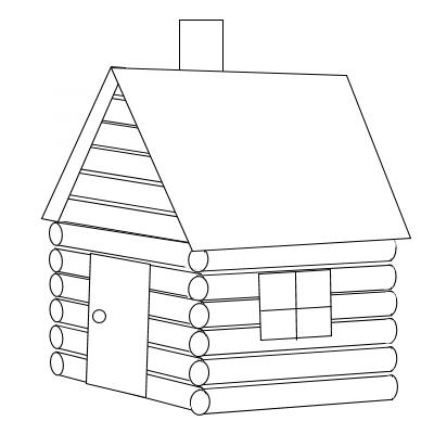 Clip art black and white log cabin clipart  Clipartix