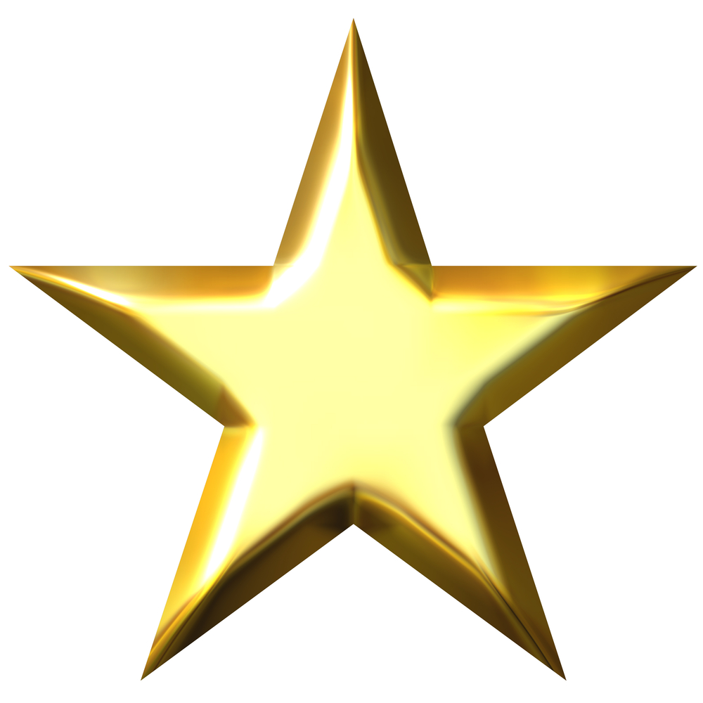 Gold star star no background clipart