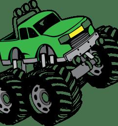 monster truck clip art [ 2519 x 2113 Pixel ]