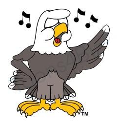 bald eagle mascot singing clip art [ 1000 x 1000 Pixel ]