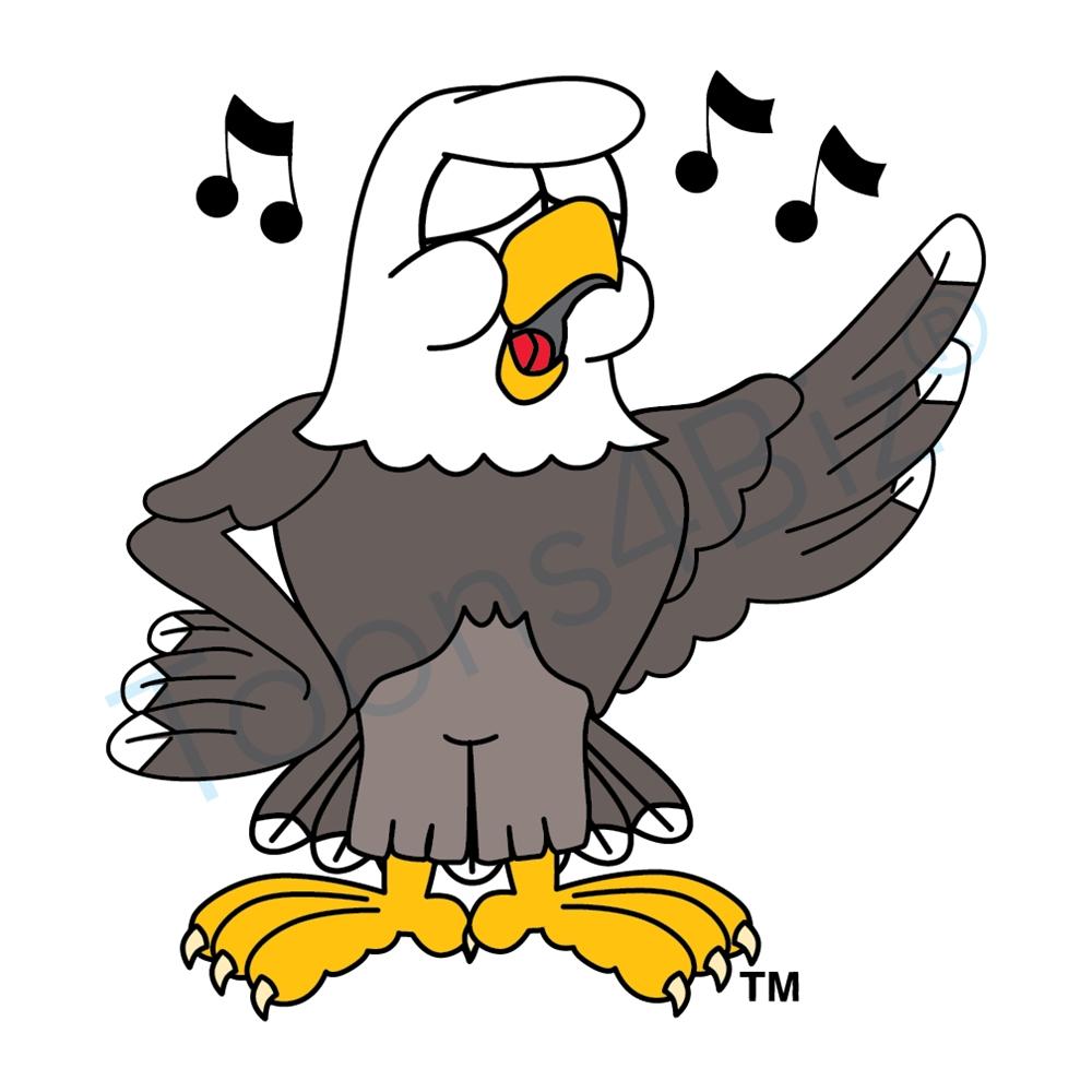 hight resolution of bald eagle mascot singing clip art