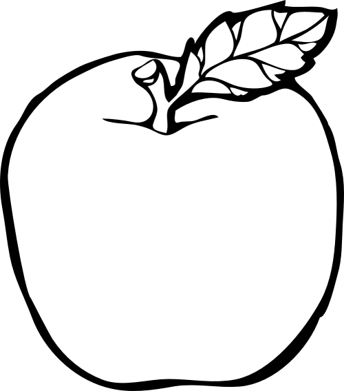 small resolution of apple clipart black and white free images