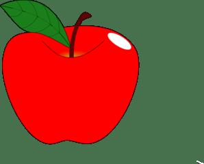 clip art apple - clipartix