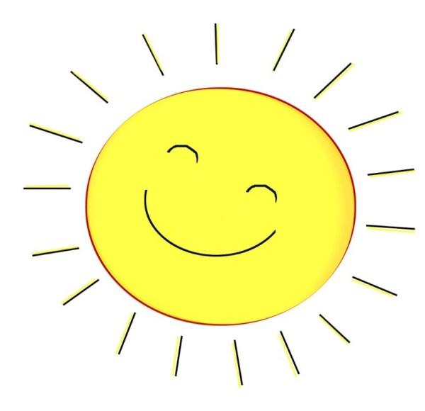 Happy Face Sun Clip Art
