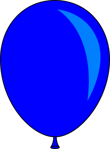 blue balloon clip art vector