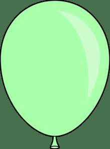 light green balloon clip art