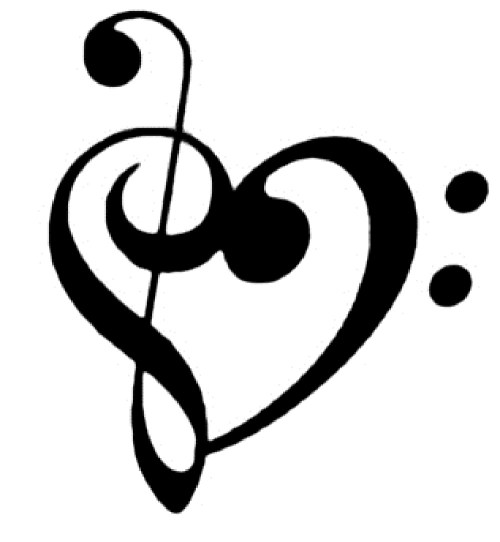 small resolution of music heart clipart free