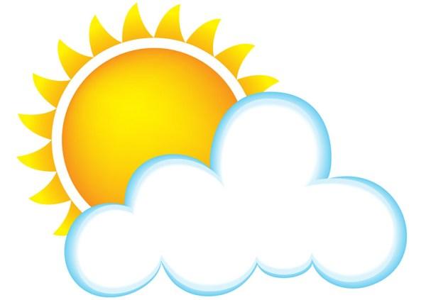 sun and clouds clipart - clipartix