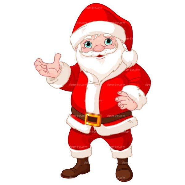 santa awesome christmas clipart'