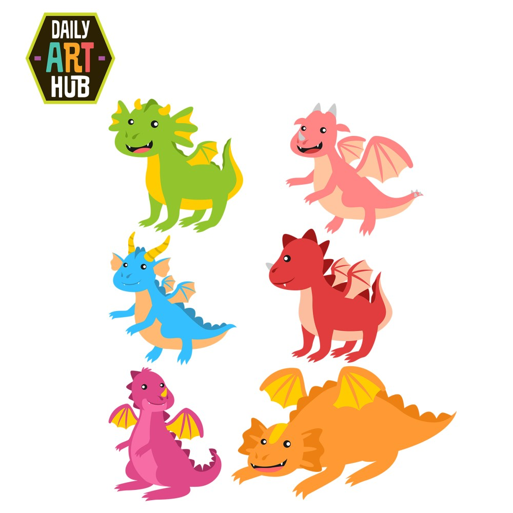 medium resolution of cute dragon clipart many interesting cliparts