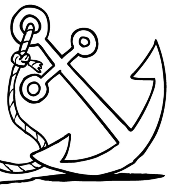 anchor black and white clip art