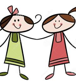 friends girls cliparts free download clip art [ 1205 x 879 Pixel ]