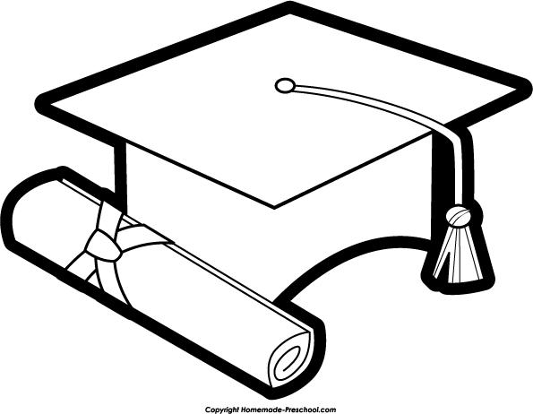Graduation hat graduation clipart white cap pencil and in
