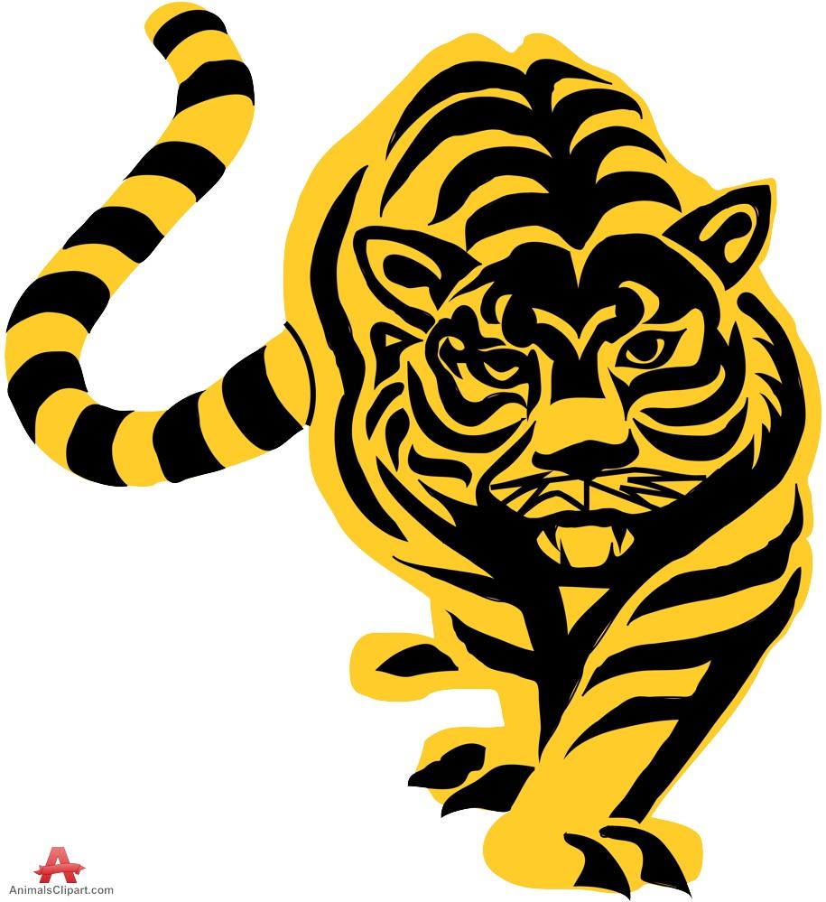 hight resolution of tiger stencil clipart sticker design free download
