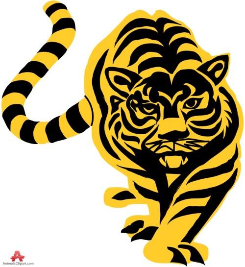 small resolution of tiger stencil clipart sticker design free download