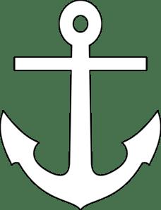 white anchor clip art vector