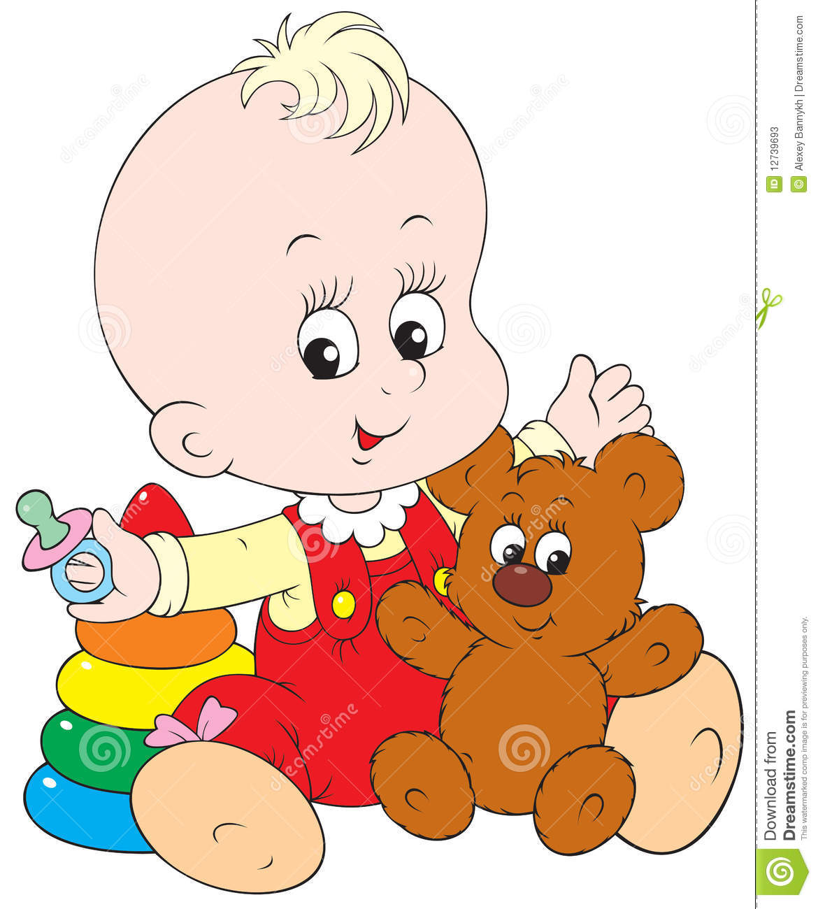 hight resolution of baby playing clipart