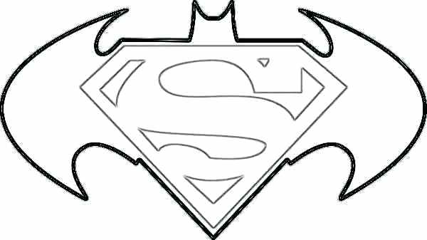 batman outline Batman logo coloring pages symbol page
