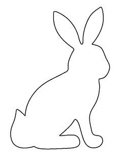 bunny outline Here is another bunny template found cute