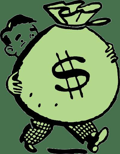 Money Cartoon Images : money, cartoon, images, Cartoon, Money, Holding, Green, Light, Street, Capital, Clipartix