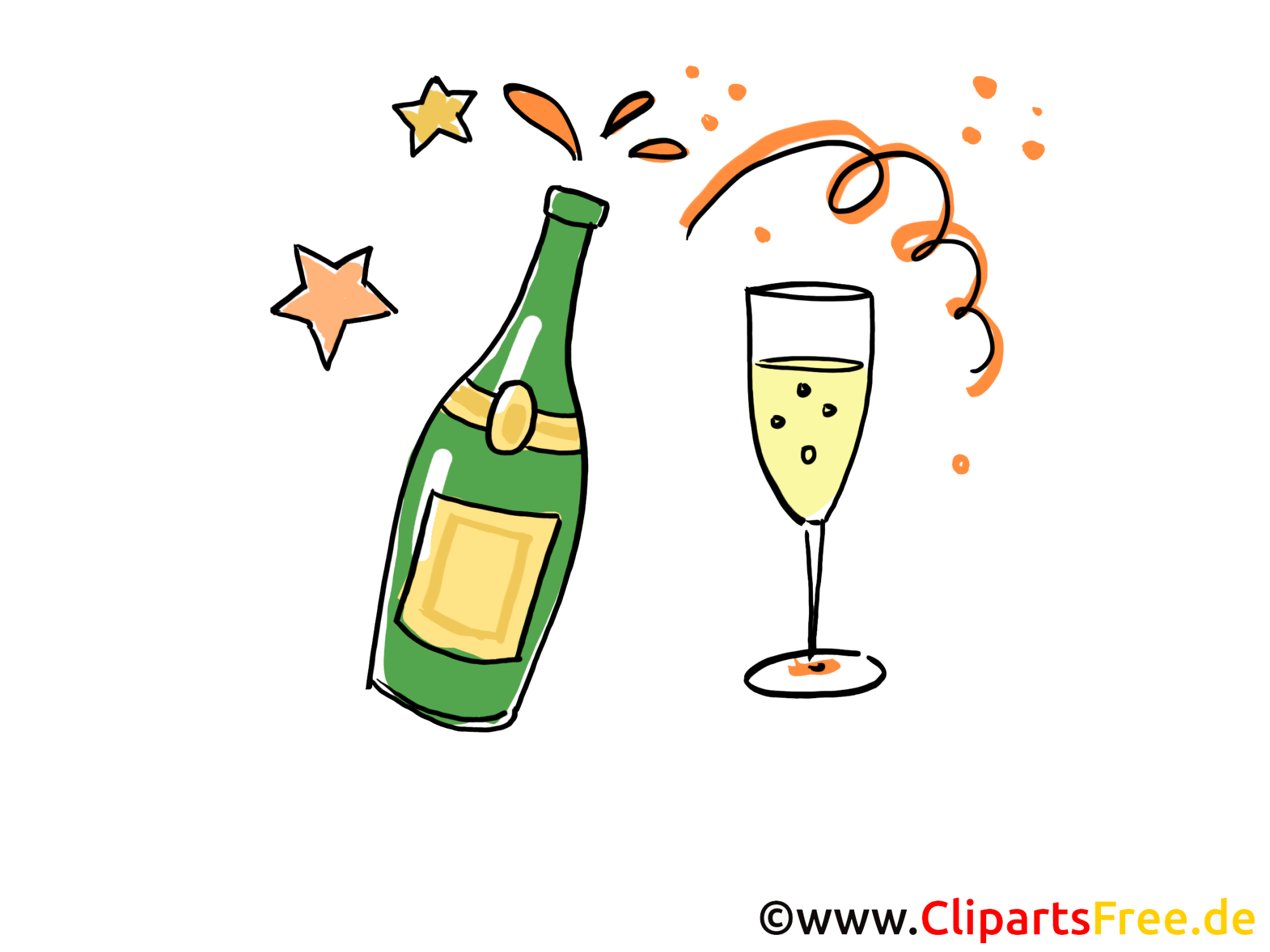 hight resolution of champagne clip art gratuit soir images gratuites faire la png