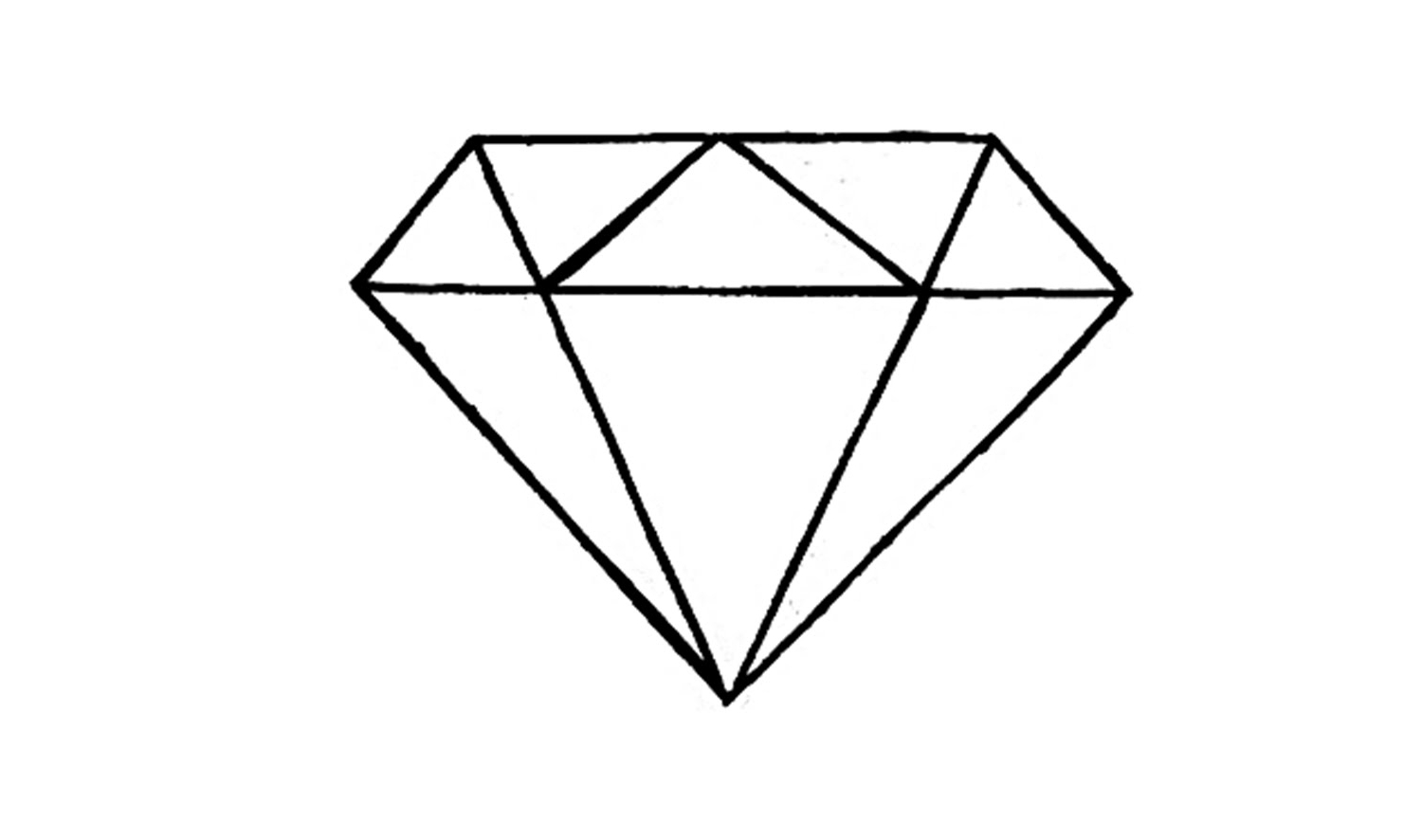 Simple 3d diamond drawing how to draw a easy youtube jpg