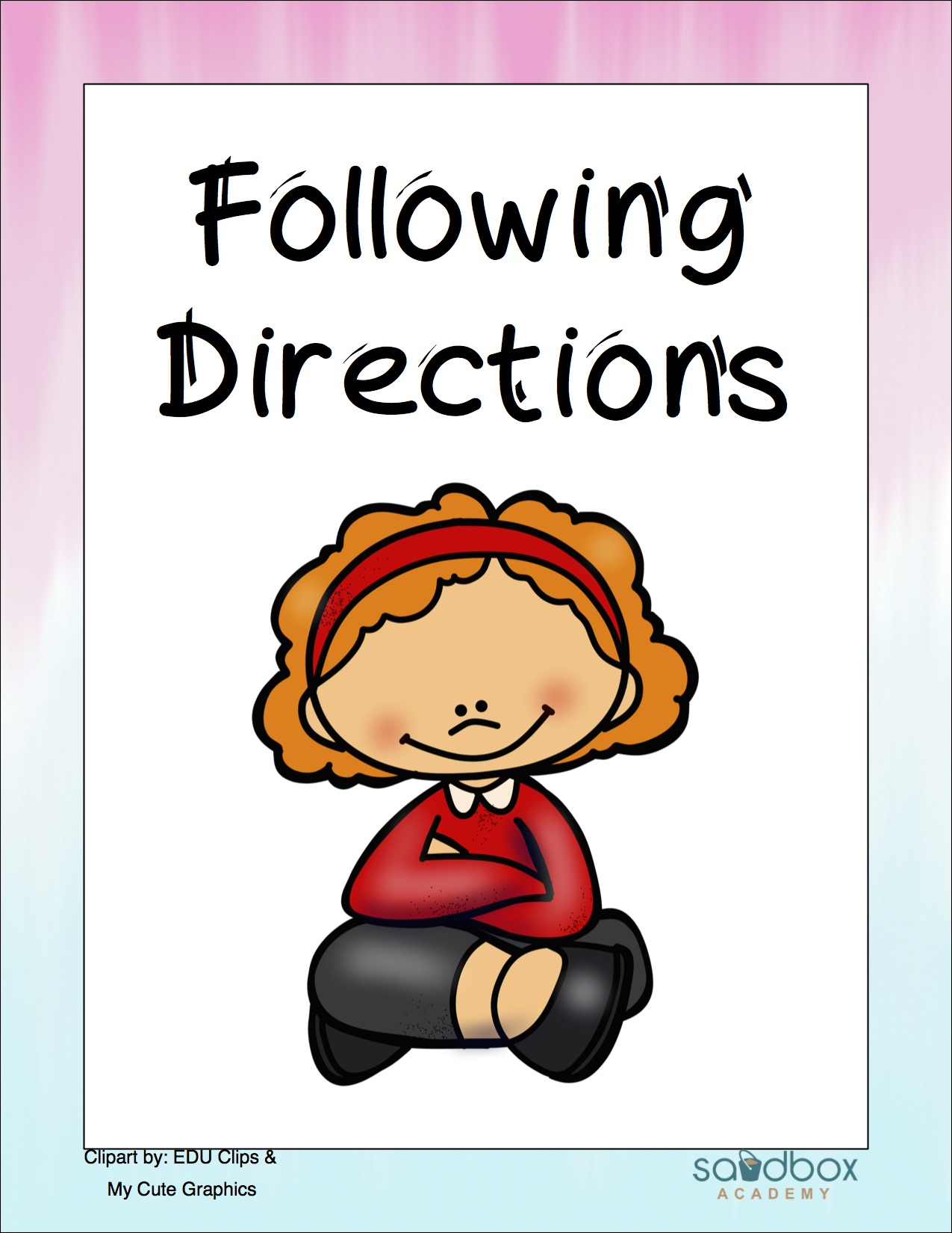 Follow Direction Following Directions Social Story Sand