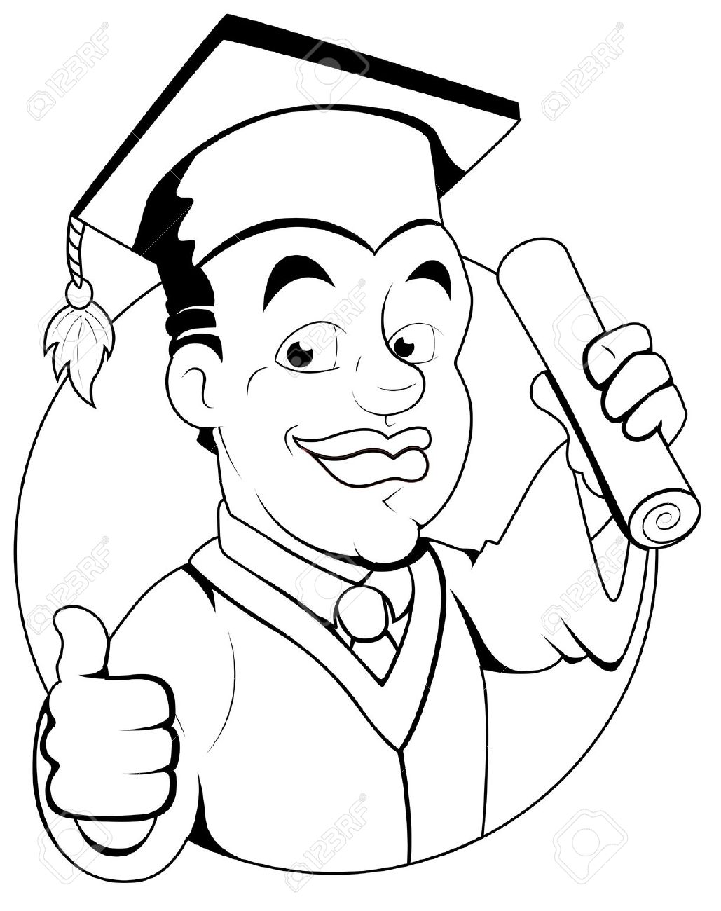 Graduation Drawings Clip Art Graduation Black And White