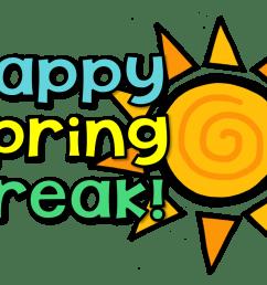 no school happy spring break waverly elementary school png [ 1600 x 999 Pixel ]