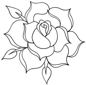 outline rose drawing roses line tattoo easy rosa rosas drawings para dibujar clip una designs dibujo simple sketch clipart como