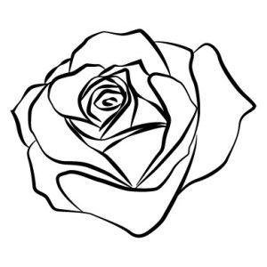 outline rose tattoo drawing clipart clip flower drawings outlines ink tattoos silhouette realistic draw clipartmag line roses clipartix knee designs