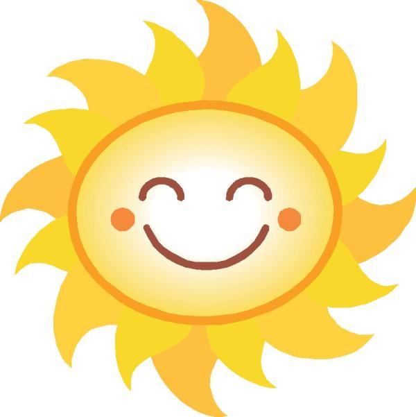 smiling sun clipart - clipartix