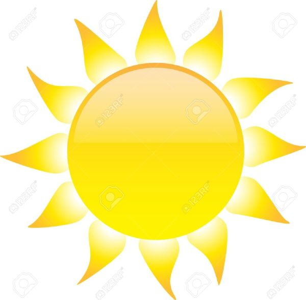 sun clipart white background pencil