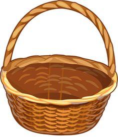 bucket clipart brown basket cute