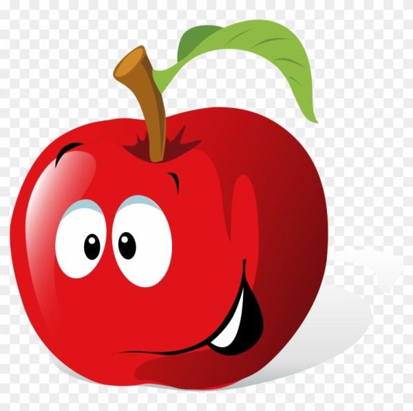 cartoon red apple clip art clker