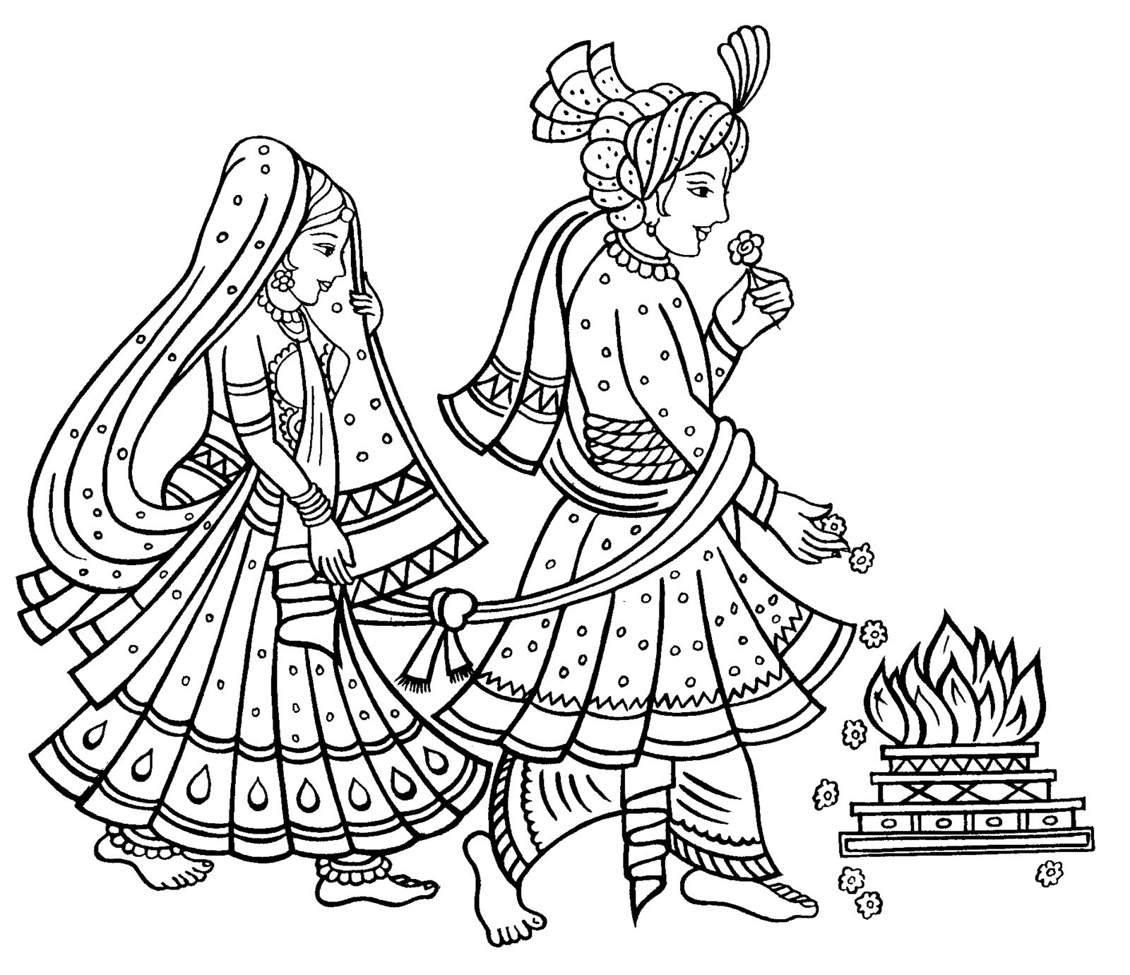 Hindu Wedding Clipart Clipartxtras 0 Indian Marriage