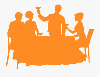 Restaurant Silhouette Orange Free Transparent Clipart ClipartKey
