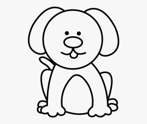dog easy simple drawing clipart clipartkey