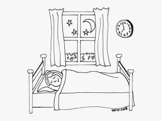 Coloring Clipart Bedroom Go To Bed Coloring Pages Free Transparent Clipart ClipartKey