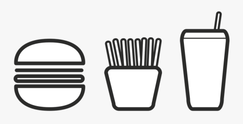 Transparent Restaurant Icon Png Black And White Burger Clipart Free Transparent Clipart ClipartKey