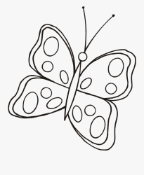 Butterfly Clipart Black And White Fundo Rosa