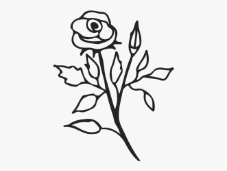 Stem Drawing Rose Transparent Png Clipart Free Download Flower With Stem Outline Free Transparent Clipart ClipartKey