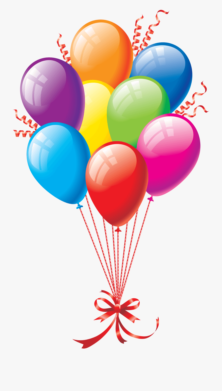 Birthday Clipart For Him : birthday, clipart, Happy, Birthday, Clipart, Tubes, Transparent, Background, Balloon, ClipartKey