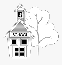 Transparent School Clipart Black School Clipart Black And White No Background Free Transparent Clipart ClipartKey