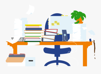 Black And White Png Man At Messy Desk Messy Desk Png Free Transparent Clipart ClipartKey