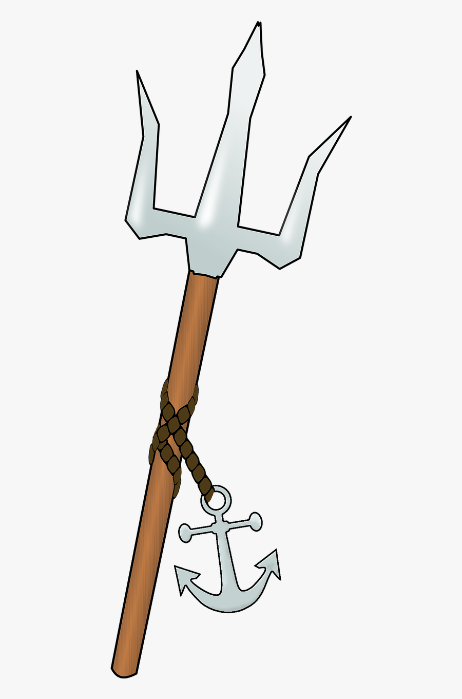 How To Draw A Trident : trident, Trident, Poseidon, Drawing, Transparent, Clipart, ClipartKey